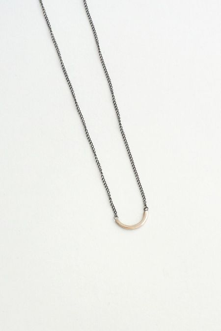 Melissa Joy Manning Middle Arc Necklace - Gold/Silver