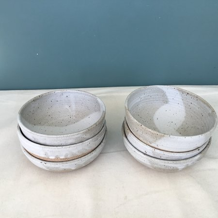 Colleen Hennessey set of 2 oatmeal bowls - Matte Pale /Foggy White