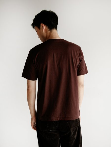 Niuhans Cotton Cashmere Brushed S/S Tee - Brown