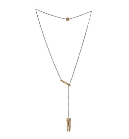 Chikahisa Studio Double Stick Lariat Necklace - Bronze