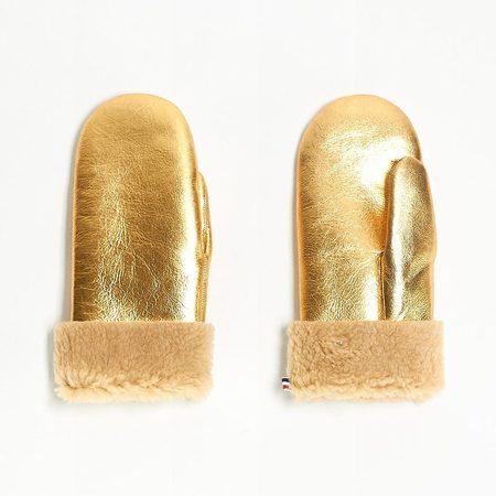 Toasties Mittens - Metallic Gold