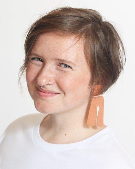Four Eyes Ceramics Tassel Earrings - Terracotta