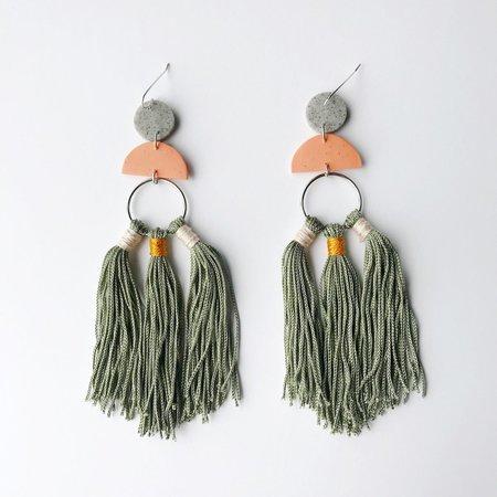 Sigfús Tassel Earrings - Terracotta/Grey/Sage