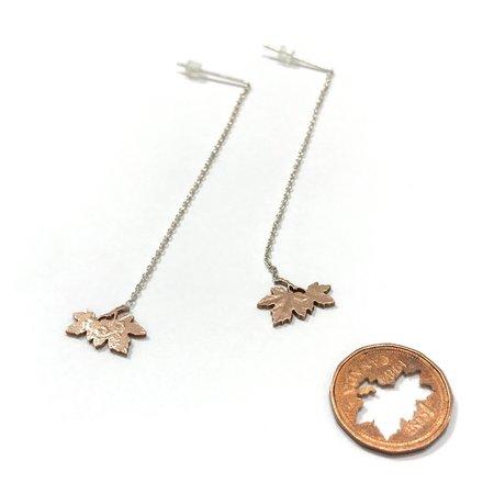 Micah Adams Penny Leaves Dangle Earrings