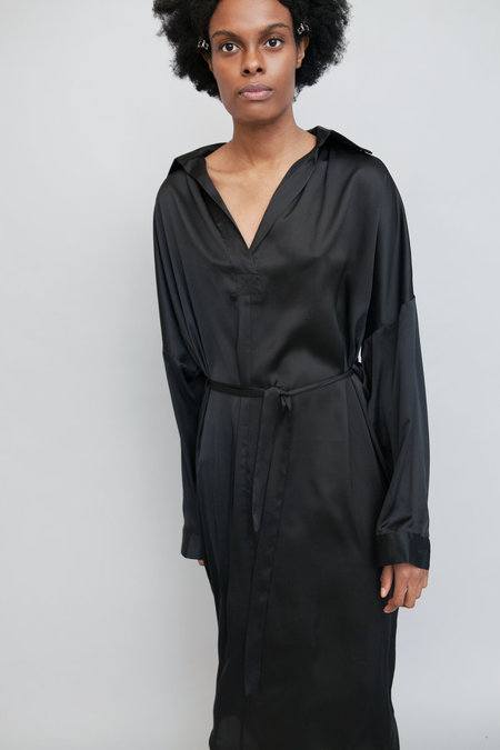 Lera Pivovarova Lamar Silk Shirt Dress - Black