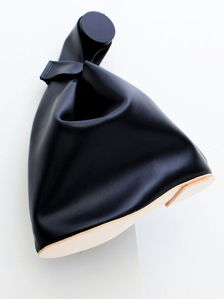 A'N'D Flat Heel Loop Handle Bag - Black