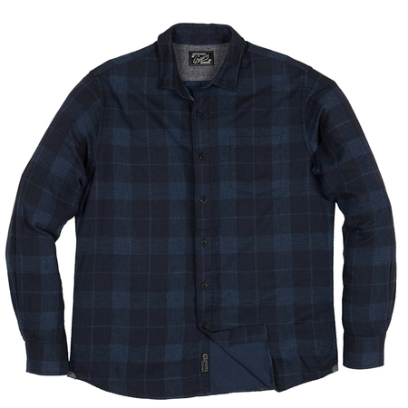 Grayers Helsby Double Cloth - Navy Plaid