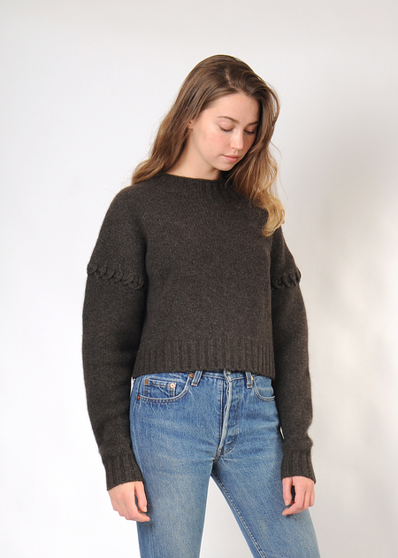 7115 by Szeki Stitched Sleeve Sweater - coco