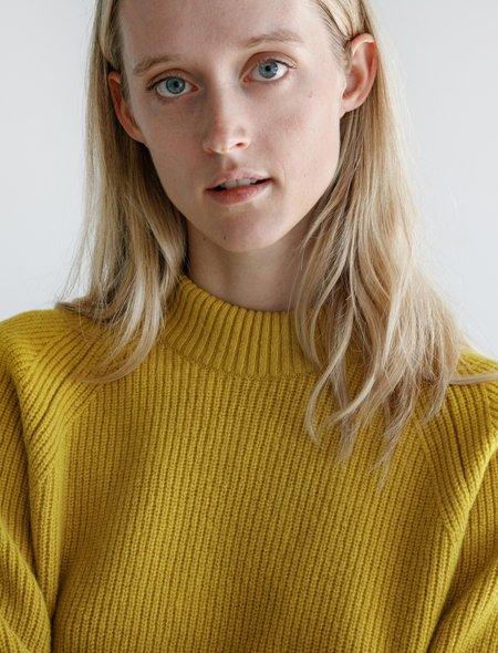 Norse Projects Evelina Lambswool Sweater - Forsythia Yellow