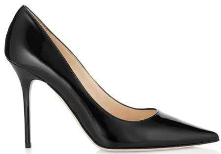 JIMMY CHOO Abel Patent Leather Pointy Toe Pumps - Black