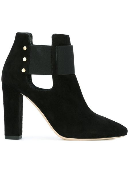 Jimmy Choo Mercy 95 Suede Ankle Boot - Black