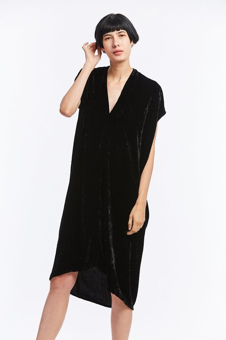 Miranda Bennett Velvet Everyday Dress - Black