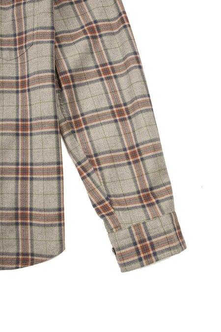Benson Flannel LS - Grey/Orange