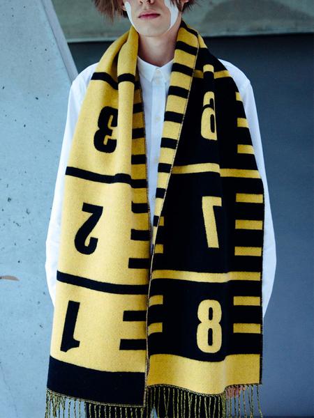 Henrik Vibskov 8cm Scarf - Yellow/Black