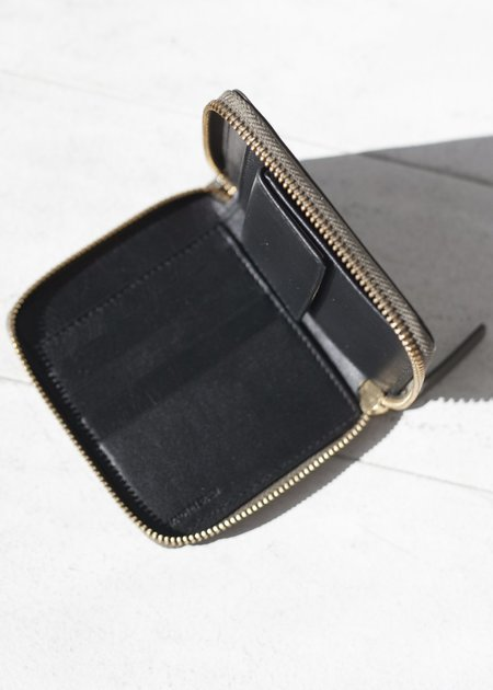 The Stowe Square Zip Wallet - Tomato Patent
