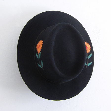 Brooklyn Hat Co. Embroidered Gaucho Hat - Black
