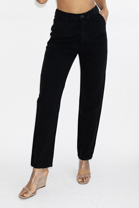 Rollas Horizon Linen Pant -Washed Black