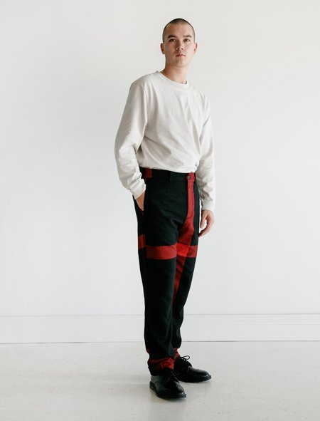 Engineered Garments Andover Pant - Black/Red