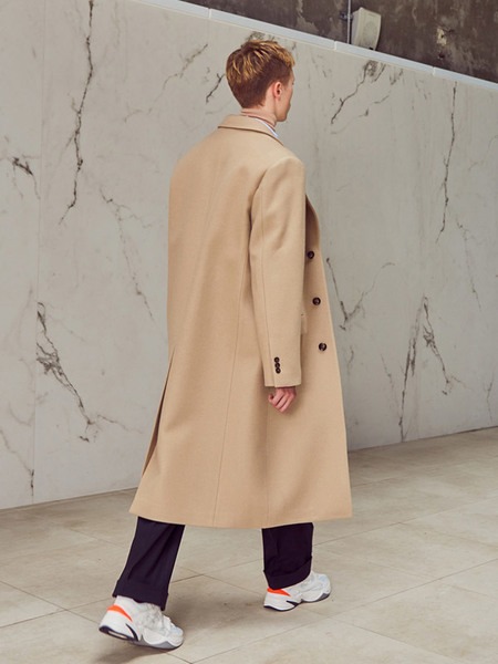 Unisex ANDERSSON BELL Christopher Single Long Coat - Beige