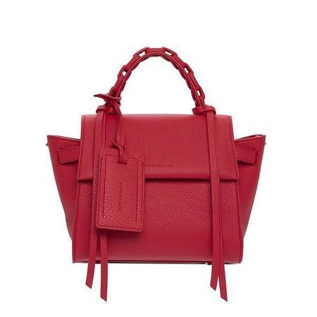 Elena Ghisellini Usonia Angel S Jet Setter Leather Handbag - Scarlet