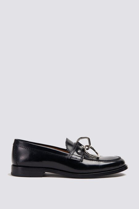 Hope Patty Ring Loafer - Black