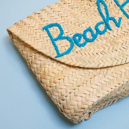 "Poolside Bags L'Enveloppe Clutch ""Beach Please"" Straw Bag"
