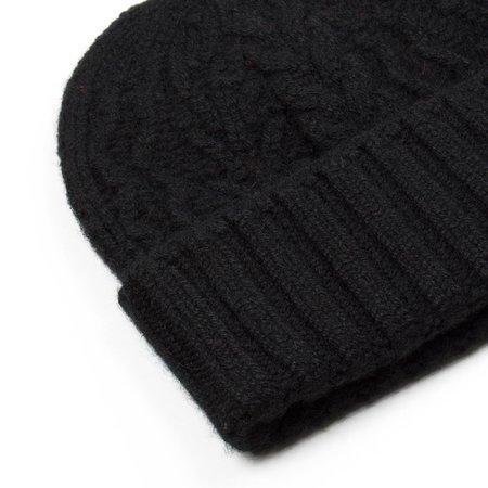 cableami Cashmere Alan Beanie - Black