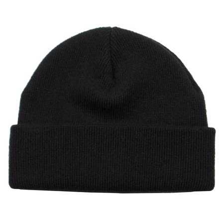 cableami Cashmere Double Beanie - Black