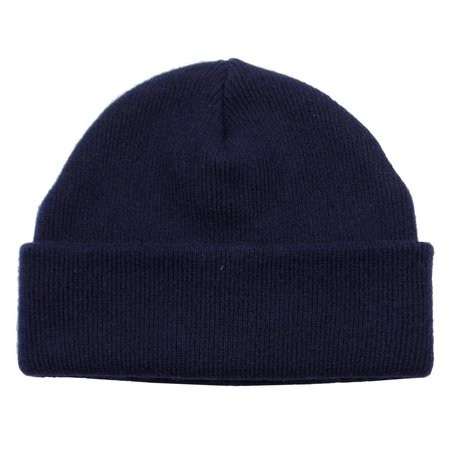 cableami Cashmere Double Beanie - Navy