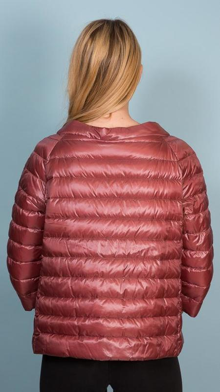 Herno Reversible Quilted Down Jacket - Rust/Plum