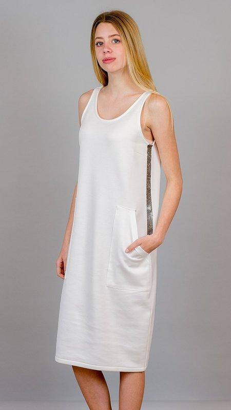 Eleventy Sleeveless Dress - White