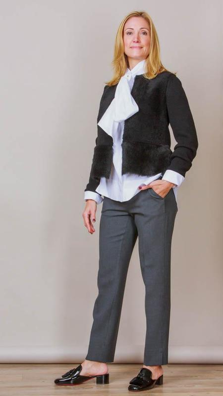 Psophia Long Sleeve Blouse With Bow - White