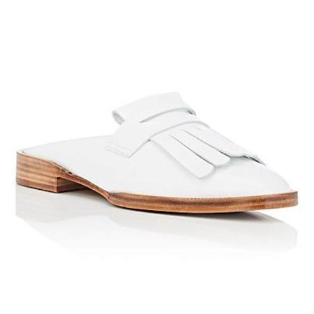 Robert Clergerie Yumi Leather Mules - White