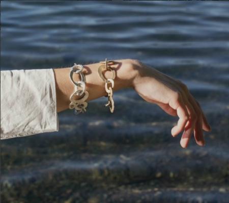 Chikahisa Studio Skipping Stones Chain Bracelet - Bronze