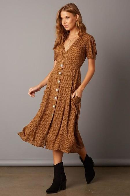 Quarter to Five One More Song Midi Dress - Taffy