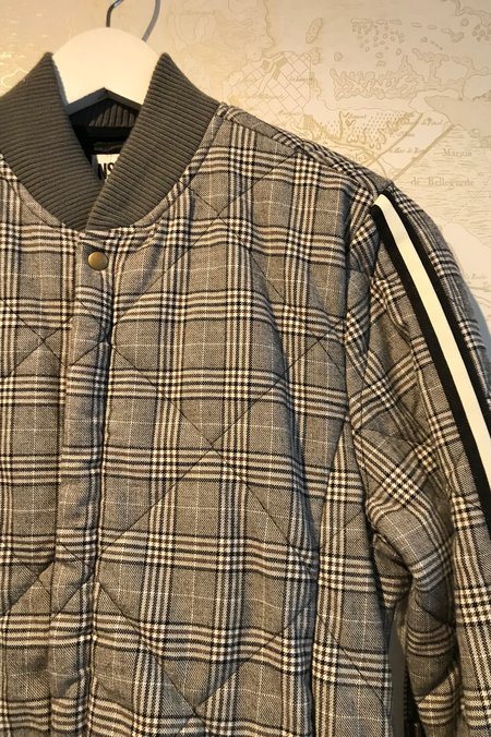 NSF Neil Quilted Bomber Jacket - Cernay Plaid Print