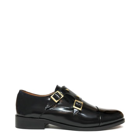 Anne Thomas Mr. Thomas Shezan Lisse Monkstrap - Black