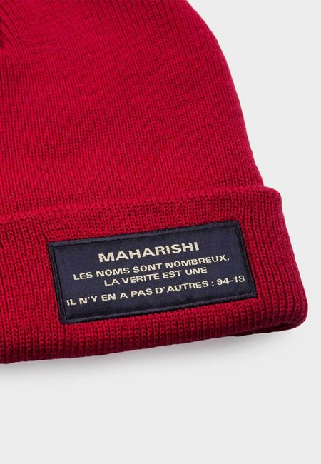 Maharishi Miltype Beanie - Deep Red