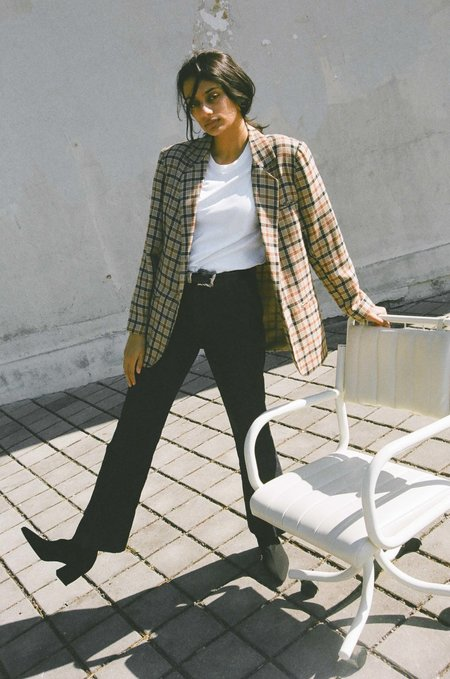 Either, And Vintage Classic Check Blazer