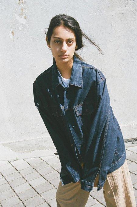 Either, And Vintage Gap Oversized Dark Denim Jacket