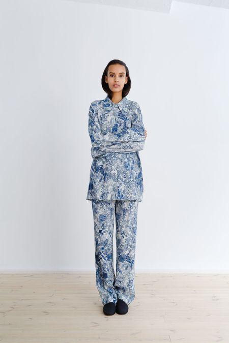Samuji Usra Shirt - White/Grey/Blue