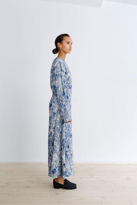 Samuji Umika Dress - White/Grey/Blue