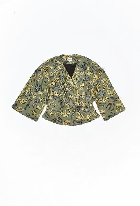 Samuji Feya Shirt - Green/Yellow/Light Blue