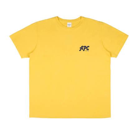 A.P.C. Sid T-shirt - Mustard