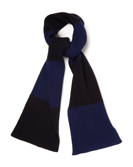 Country of Origin Stripe Scarf - Navy/Dark Navy