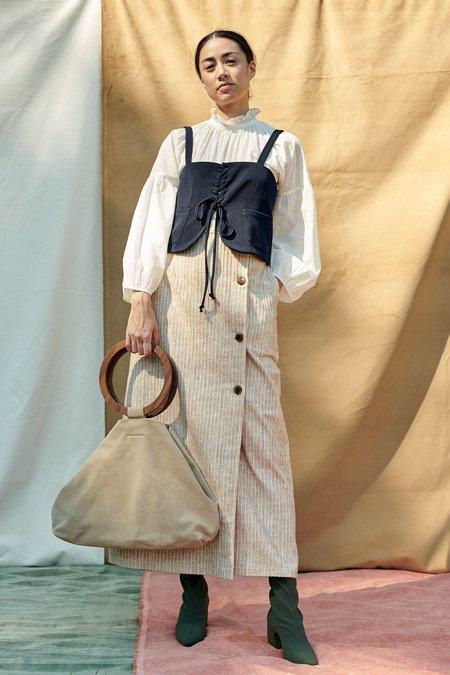 Maryam Nassir Zadeh Hall Skirt - Silt