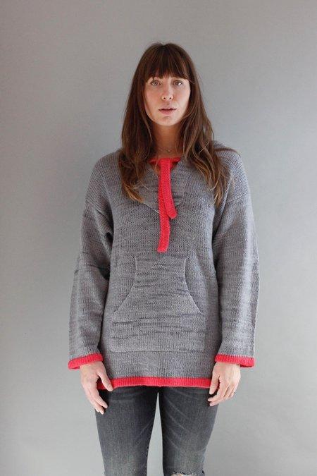Elder Statesman Baja Pullover Sweater - Silver Sockeye