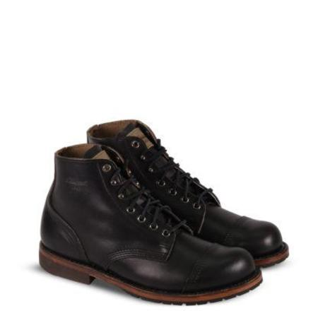 1892 by Thorogood Chromexcel Dodgeville Cap-Toe Leather Boot - Black