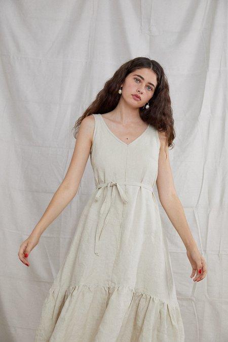 Ovna Ovich Organic Linen Bell Dress - European