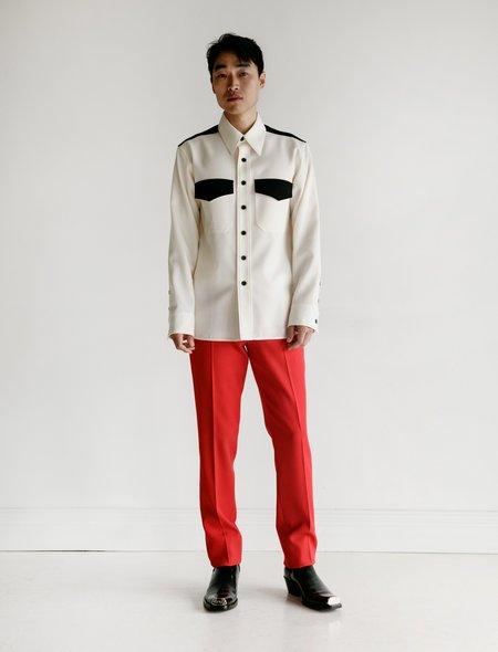 Calvin Klein 205W39NYC Uniform Pant with Side Stripe - Scarlet